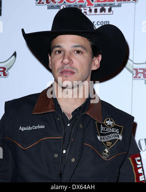 Agnoldo Cardozo Professional Bull Rider Superstars walk the red carpet at PBR Rock Bar inside The Miracle Mile Shops - Stock Photo