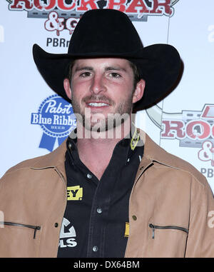 Douglas Duncan Professional Bull Rider Superstars walk the red carpet at PBR Rock Bar inside The Miracle Mile Shops - Stock Photo
