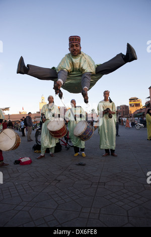 Jamaa el Fna Square in Marrakech, Morocco - Stock Photo