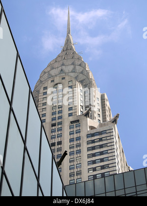 The Chrysler Building viewed from 42nd Street, New York - Stock Photo