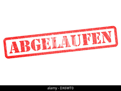 Abgelaufen (Expired) Stempel/Stamp over a white background. - Stock Photo