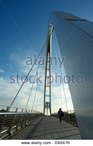 The Infinity Bridge in Stockton-on-Tees, north east England, UK.