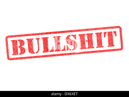 BULLSHIT rubber stampover a white background. - Stock Photo