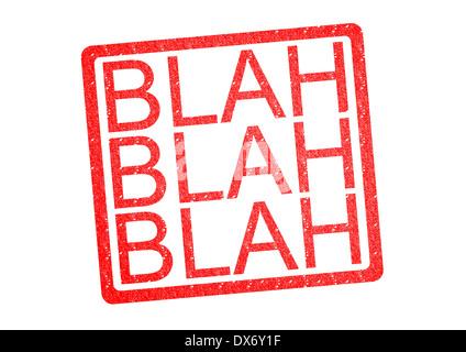BLAH BLAH BLAH Rubber Stamp over a white background. - Stock Photo