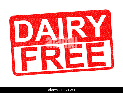 DAIRY FREE Rubber Stamp over a white background. - Stock Photo