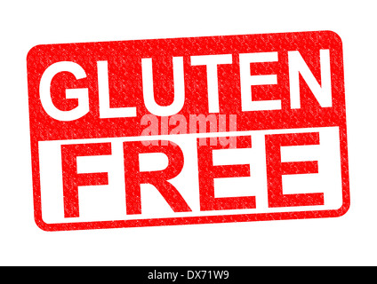 GLUTEN FREE Rubber Stamp over a white background. - Stock Photo