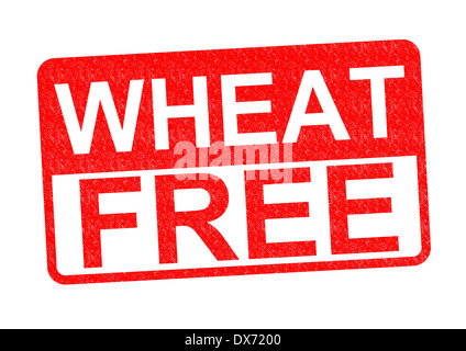 WHEAT FREE Rubber Stamp over a white background. - Stock Photo