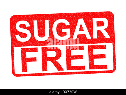 SUGAR FREE Rubber Stamp over a white background. - Stock Photo