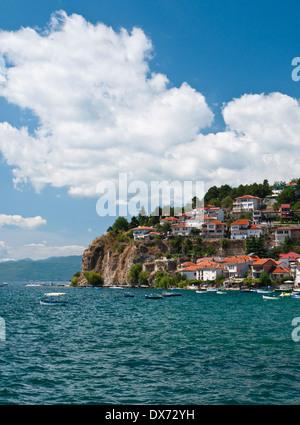 The UNESCO protected city and lake of Ohrid, Macedonia - Stock Photo