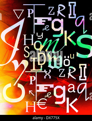 DIGITAL ART: Dyslexia - Stock Photo