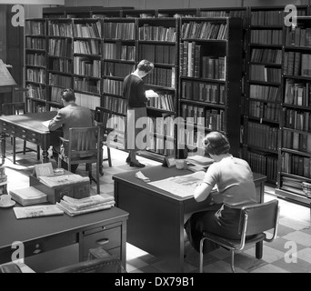 Newspaper office library Wolverhampton West Midlands 1957 - Stock Photo