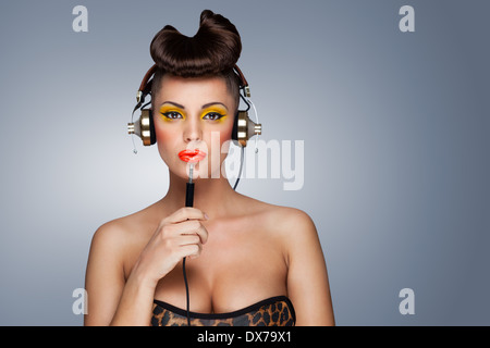 Hear yourself attentionally. - Stock Photo