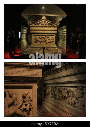 Alexander Sarcophagus in The Istanbul Archaeology Museums - Stock Photo
