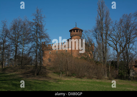 A view of the Castle of Valentino in Turin, Italy - Stock Photo