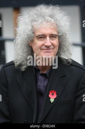 Brian May outside the ITV Studios London, England - 08.11.12 Featuring: Brian May Where: London, United Kingdom - Stock Photo