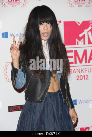 Loreen The MTV EMA's 2012 held at Festhalle - arrivals Featuring: Loreen Where: Frankfurt, Germany When: 11 Nov - Stock Photo
