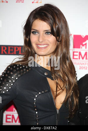 Brazilian model Isabeli Fontana The MTV EMA's 2012 held at Festhalle - arrivals **or publication in Germany and - Stock Photo