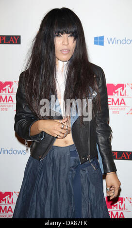 Swedish singer Loreen The MTV EMA's 2012 held at Festhalle - arrivals **or publication in Germany and France. A - Stock Photo