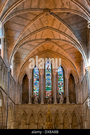 Vaulted roof interior of Southwark Cathedral; London - Stock Photo