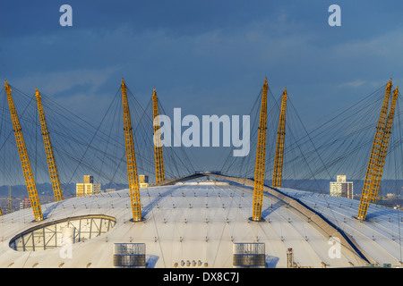 The O2; formerly known as the Millennium Dome, the O2 is now a leading entertainment venue for events, exhibitions - Stock Photo