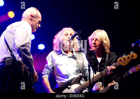 Berlin. 18th Mar, 2014. Status Quo live in concert 'The Frantic Four Reunion Tour' on March 18, 2014 in Berlin./picture - Stock Photo