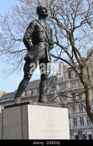 Jan Christian Smuts statue in Parliament Square, London, England, United Kingdom. - Stock Photo