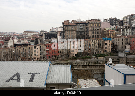 Construction works close to Taksim Square, Istanbul, Turkey, in March 2014. - Stock Photo