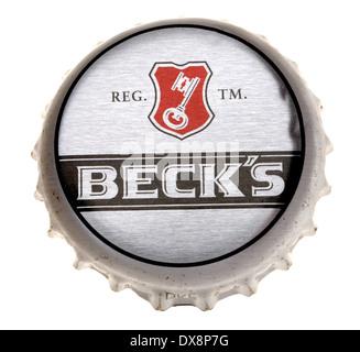 Beer bottle cap - Beck's (Germany) - Stock Photo