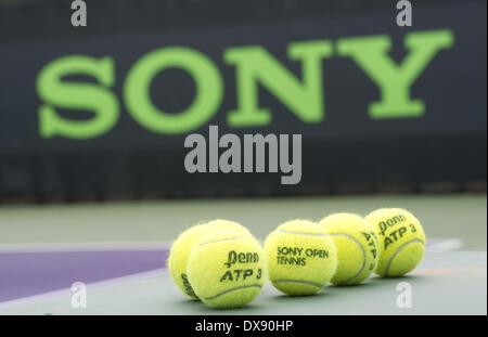 Key Biscayne, Florida, USA. 20th Mar, 2014. Key Biscayne - March 20: Tennis Balls © Andrew Patron/ZUMAPRESS.com/Alamy - Stock Photo