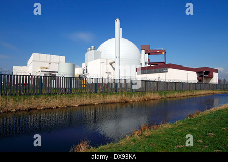 Nuclear Power Station Brokdorf - Stock Photo