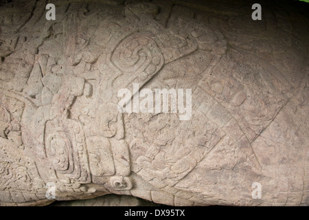 Guatemala, Department of Izabal, Quirigua National Park. Mayan archaeological site from the Classic Period (AD 200 - Stock Photo