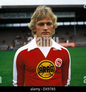 football, Bundesliga, 1979/1980, Fortuna Duesseldorf, team presentation, portrait Bernd Pajonk - Stock Photo