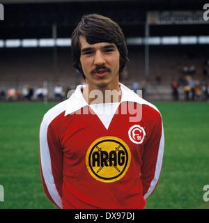 football, Bundesliga, 1979/1980, Fortuna Duesseldorf, team presentation, portrait Ralf Dusend - Stock Photo