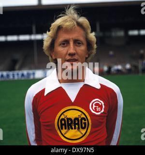 football, Bundesliga, 1979/1980, Fortuna Duesseldorf, team presentation, portrait Gerd Zewe - Stock Photo