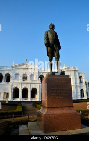 Statue of Gregory outside National Museum Colombo Sri Lanka - Stock Photo
