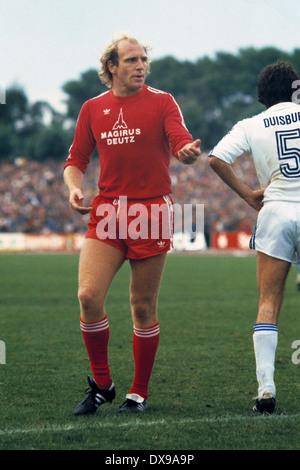 football, Bundesliga, 1979/1980, Wedau Stadium, MSV Duisburg versus FC Bayern Munich 1:2, scene of the match, Dieter - Stock Photo