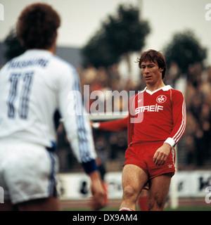 football, Bundesliga, 1979/1980, Wedau Stadium, MSV Duisburg versus 1. FC Kaiserslautern 1:1, scene of the match, - Stock Photo