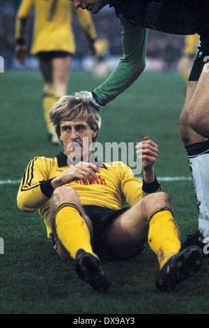 football, Bundesliga, 1979/1980, Wedau Stadium, MSV Duisburg versus Borussia Dortmund 1:0, scene of the match, Herbert - Stock Photo
