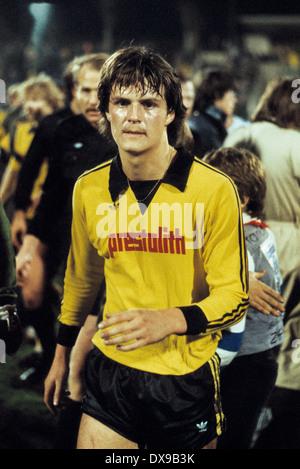 football, Bundesliga, 1979/1980, Wedau Stadium, MSV Duisburg versus Borussia Dortmund 1:0, end of the game, leaving, - Stock Photo