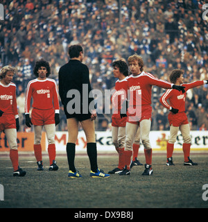 football, Bundesliga, 1979/1980, Parkstadion, FC Schalke 04 versus Borussia Moenchengladbach 1:0, scene of the match, - Stock Photo