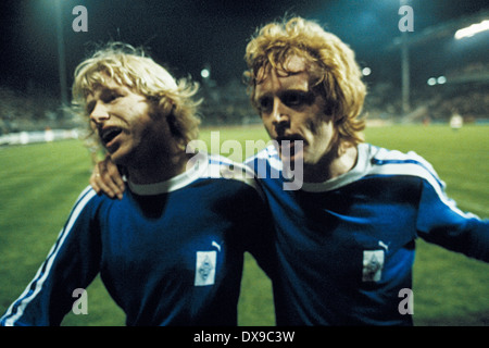 football, UEFA Cup, Europa League, 1979/1980, semifinal, return leg, Stadium am Boekelberg, Borussia Moenchengladbach - Stock Photo