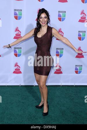 Mariann Gavelo 13th Annual Latin Grammy Awards held at the Mandalay Bay Resort and Casino - Arrivals Las Vegas, - Stock Photo