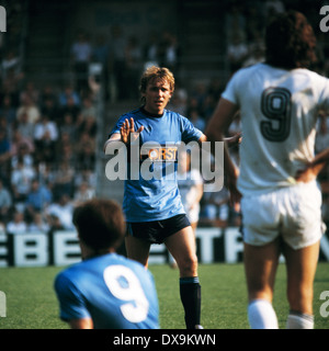 football, Bundesliga, 1980/1981, Ruhr Stadium, VfL Bochum versus Eintracht Frankfurt 2:0, scene of the match, Josef - Stock Photo
