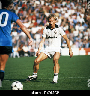 football, Bundesliga, 1980/1981, Ruhr Stadium, VfL Bochum versus Eintracht Frankfurt 2:0, scene of the match, Michael - Stock Photo