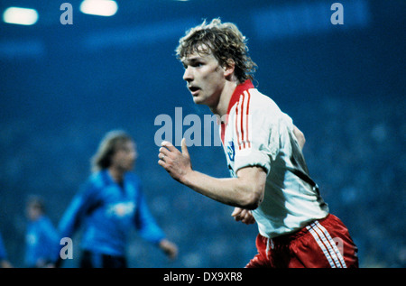 football, Bundesliga, 1980/1981, Ruhr Stadium, VfL Bochum versus Hamburger SV 0:3, scene of the match, Holger Hieronymus - Stock Photo