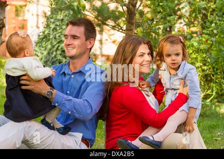 Family enjoying holidays. - Stock Photo