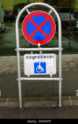 symbol for parking lot for handicapped - Stock Photo