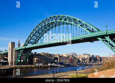 Newcastle upon Tyne skyline gateshead the Tyne bridge over River Tyne Tyne and Wear Tyneside England UK GB EU Europe - Stock Photo