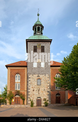 Evangelical-Lutheran St. John the Baptist Church / Sankt Johannes der Täufer Kirche at Walsrode, Lüneburg Heath, - Stock Photo