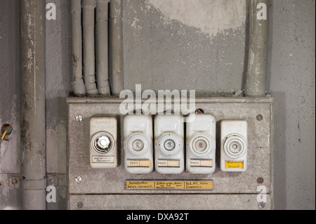 old fuses in a fuse box stock photo 24434117 alamy rh alamy com old-fashioned-style fuse box old fashioned fuse box